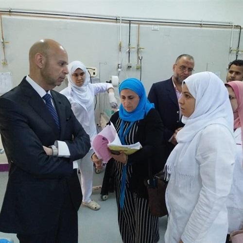 صدى العرب: وكيل وزارة الصحة بالشرقية يتفقد مستشفي منيا القمح والإدارة الصحية