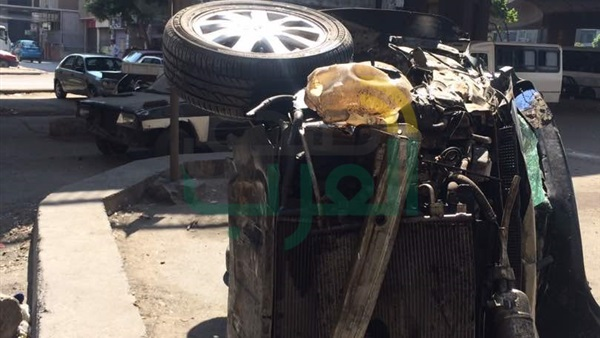 إصابة شخص إثر سقوط سيارة من أعلى كوبري أكتوبر(صور) — الوحدة الاخبارى